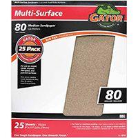 Gator 3265 Sanding Sheet, 80-Grit, Medium, Aluminum Oxide