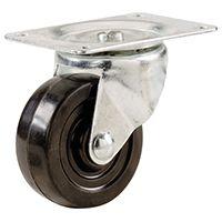 Shepherd Hardware 9479 Swivel Caster, 3 in Dia x 1-1/4 in W Wheel, 175 lb Weight Capacity, Rubber Wheel