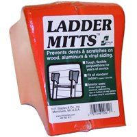 STAPLES 611F Tear-Resistant Ladder Mitt, Polyurethane, Orange, For All Standard Ladders