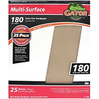 Gator 3261 Sanding Sheet, 180-Grit, Extra Fine, Aluminum Oxide