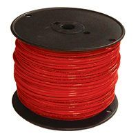 Southwire 14RED-STRX500 Stranded Building Wire, 14 AWG, 500 ft L, Red Nylon Sheath