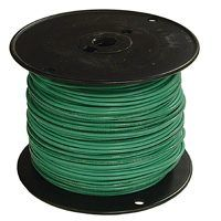 Southwire 14GRN-STRX500 Stranded Building Wire, 14 AWG, 500 ft L, Green Nylon Sheath