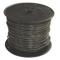 Southwire 12BK-STRX500 Stranded Building Wire, 12 AWG, 500 ft L, Black Nylon Sheath