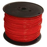 Southwire 12RED-STRX500 Stranded Building Wire, 12 AWG, 500 ft L, Red Nylon Sheath