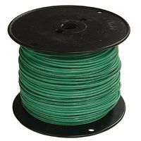 Southwire 12GRN-STRX500 Stranded Building Wire, 12 AWG, 500 ft L, Green Nylon Sheath