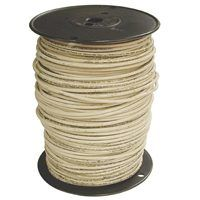 Southwire 10WHT-STRX500 Stranded Building Wire, 10 AWG, 500 ft L, White Nylon Sheath
