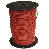 Southwire 10RED-STRX500 Stranded Building Wire, 10 AWG, 500 ft L, Red Nylon Sheath