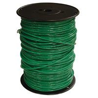 Southwire 10GRN-STRX500 Stranded Building Wire, 10 AWG, 500 ft L, Green Nylon Sheath