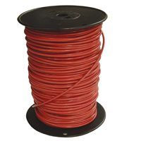 Southwire 8RED-STRX500 Stranded Building Wire, 8 AWG, 500 ft L, Red Nylon Sheath
