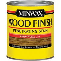 Minwax Wood Finish 22110 Wood Stain, Satin, Provincial, 0.5 pt Can