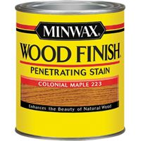 Minwax Wood Finish 22230 Wood Stain, Satin, Colonial Maple, 0.5 pt Can