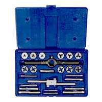 IRWIN POWER-GRIP 26313 Tap and Die Set, HCS, 24-Piece