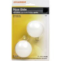 Sylvania 13667 Decorative Incandescent Lamp, 40 W, G16.5 Lamp, Candelabra