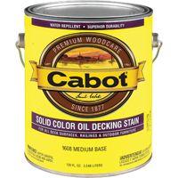 Cabot 1608 Decking Stain, Medium Base, Opaque, 1 gal