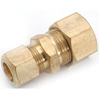 Anderson Metals 750082-1008 Tube Reducing Union, 5/8 x 1/2 in Compression, 200 psi, Brass