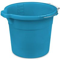 Sterilite 11254306 Spout Pail, 12 qt Capacity, Round, Metal/Plastic, Blue