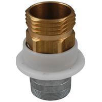 Plumb Pak PP850-17 Hose Adapter, 3/4 in IPS, Brass, Chrome