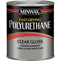 Minwax 23000 Polyurethane Paint, Clear, Gloss, 0.5 pt Can