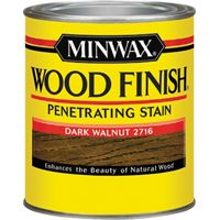 Minwax Wood Finish 22716 Wood Stain, Dark Walnut, 0.5 pt Can