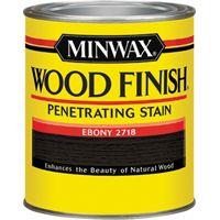 Minwax Wood Finish 22718 Wood Stain, Ebony, 0.5 pt Can
