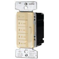 Eaton Wiring Devices PT18M-V-K Programmable Minute Timer, 15 A, 120 V, 5, 10, 15, 30, 60 min Off Time Setting, Ivory