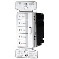 Eaton Wiring Devices PT18M-W-K Programmable Minute Timer, 15 A, 120 V, 5, 10, 15, 30, 60 min Off Time Setting, White