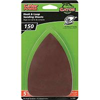 Gator 3731 Sanding Sheet, 150-Grit, Fine, Aluminum Oxide, 5 in L