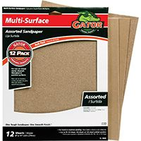 Gator 4445 Sanding Sheet, 100, 150, 220-Grit, Extra Fine/Fine/Medium, Aluminum Oxide