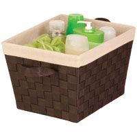 Honey-Can-Do Task-It STO-02985 Storage Basket, Espresso