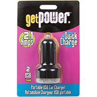 GetPower GP-DC2USB-BLK USB to DC Car Adapter, 2.4 A Charging, Black