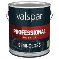 Valspar 11914 Interior Latex Paint, Semi-Gloss, Semi-Gloss Neutral Base, 1 gal Can