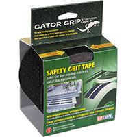 INCOM Gator Grip RE3952 Anti-Slip Safety Grit Tape, 15 ft L, 4 in W, Black