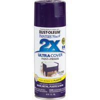RUST-OLEUM PAINTER'S Touch 249097 General-Purpose Gloss Spray Paint, Gloss, Purple, 12 oz Aerosol Can