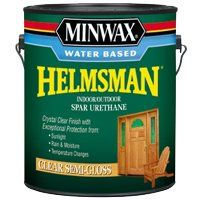 Minwax Helmsman 71051 Spar Urethane Paint, Crystal Clear, Semi-Gloss, 1 gal Can