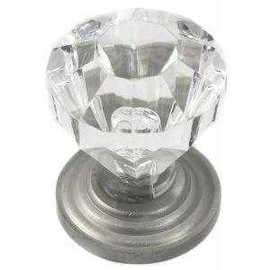 Acrystal Crystal/Pewter Knob