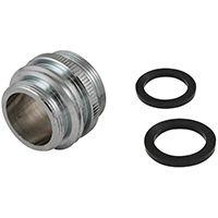 Plumb Pak PP800-60LF Faucet Aerator Adapter, 15/16-27 x 55/64-27 x 3/4 in Male x Female x MHT, Chrome