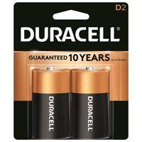 Duracell MN1300B2Z Alkaline Battery, D, Manganese Dioxide, 1.5 V