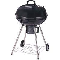 Omaha Kettle Charcoal Grill With Handle, 380 Sq-In, 22-1/2 In Dia 37-3/4 In H, Aluminum, Black