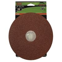 Gator 3083 Fiber Disc, 36-Grit, Extra Coarse Grade, Aluminum Oxide, 7 in Dia