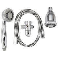 Plumb Pak K750CP 3-Way, Round Showerhead Kit, 1.8 gpm, 3 Spray Functions, 3 in Head diameter, Metal/Plastic