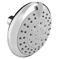 Plumb Pak K703CP Round Showerhead, 1.8 gpm, 5 Spray Functions, 4-3/4 in Head diameter, Metal/Plastic, Polished Chrome