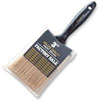 WOOSTER P3973-3 Paint Brush, 2-11/16 in L Bristle, Wall Handle, Steel Ferrule