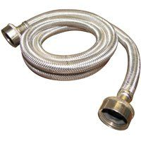 Plumb Pak PP23821 Washing Machine Hose, 3/4 in FHT x FHT, Stainless Steel