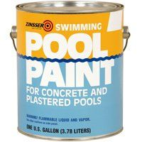 ZINSSER 260538 Pool Paint, White, Matte, 1 gal