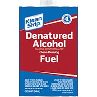 Klean Strip QSL26 Denatured Alcohol Fuel, 1 qt Can