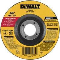 DeWALT DW8420 High Performance, Type 27 Cutting Wheel, 5/8 in Arbor, 60-Grit, Aluminum Oxide, 4 in Dia