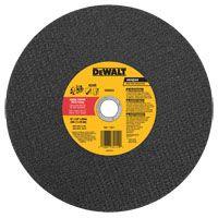 Dewalt Type 1 Cutting Wheel, 12 in Dia, 20 mm, 24 Grit, 6400 rpm, Aluminum Oxide