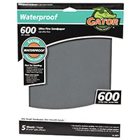 Gator 4471 Sanding Sheet, 600-Grit, Ultra Fine, Silicone Carbide