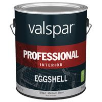 Valspar 11812 Interior Latex Paint, Eggshell, 1 gal Can