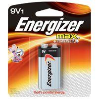 Energizer 522BP Alkaline Battery, 9 V, Zinc, Manganese Dioxide
